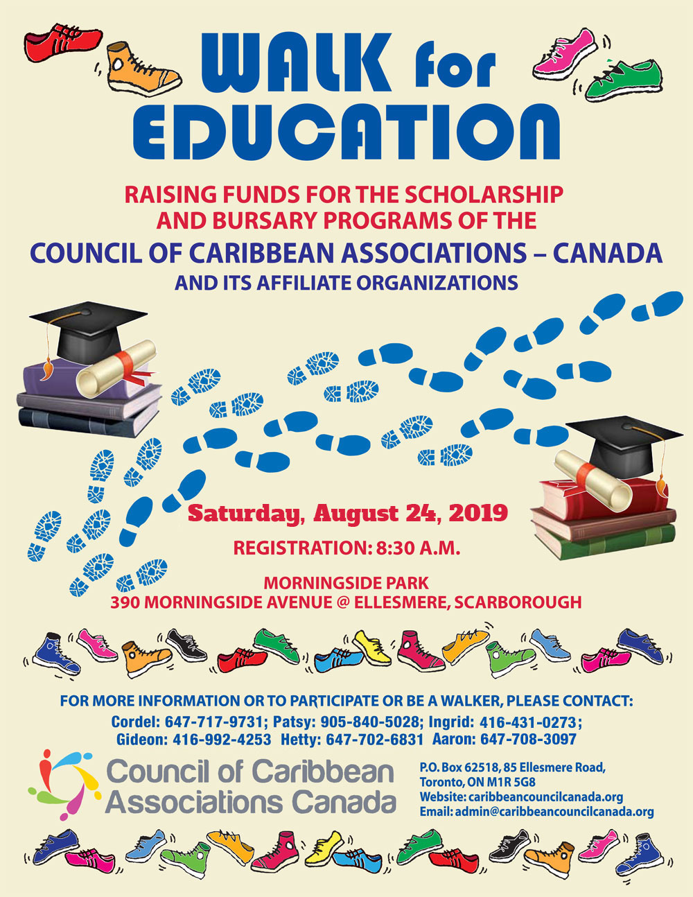 Saturday August 24, 2019 - Walk for Education